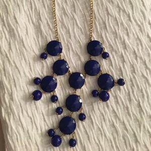 J. Crew bubble necklace - navy